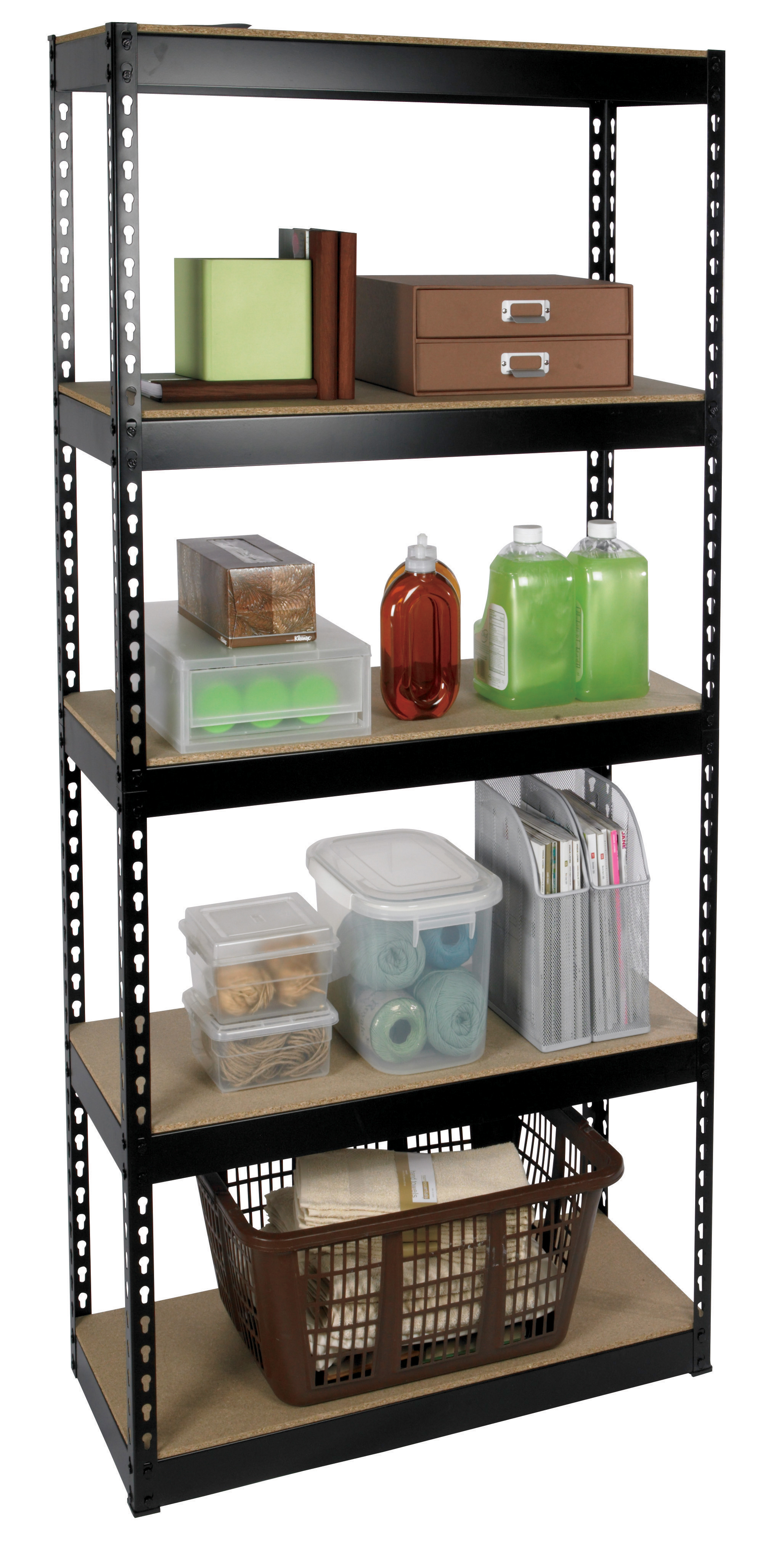 household metal shelving unit