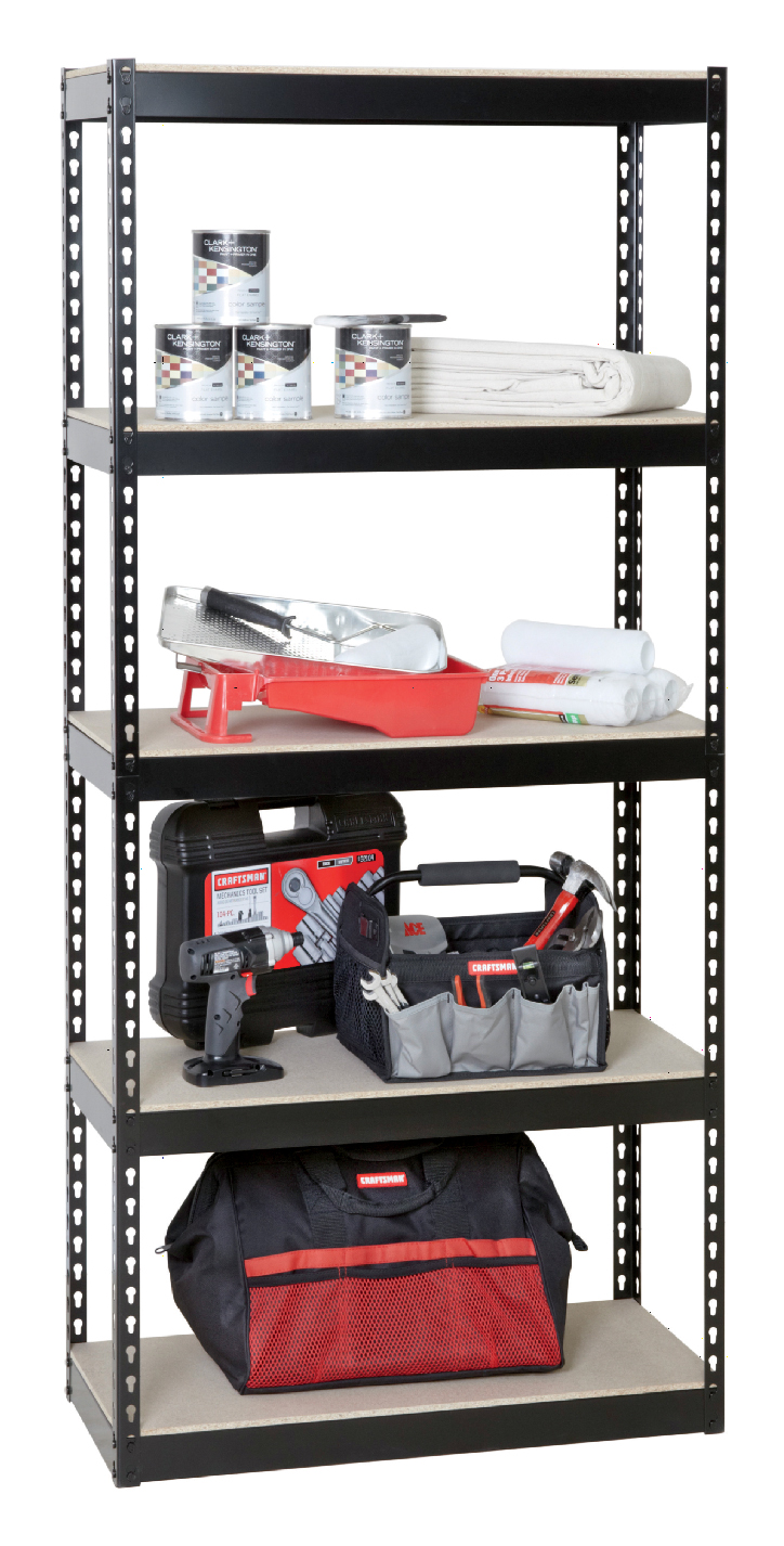 garage metal shelving unit
