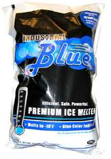 Industrial Blue ice melt