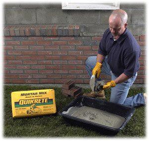 mortar mix bricks