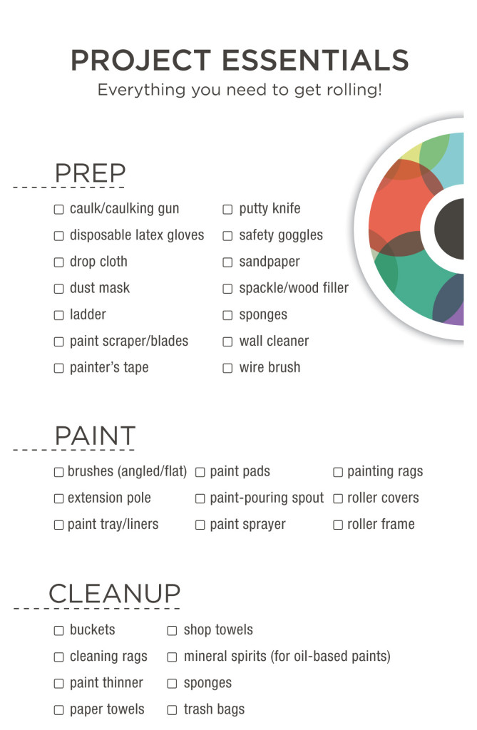 Paint Tools Checklist